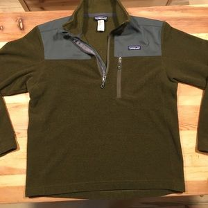 Patagonia fleece pullover Medium nice forest green